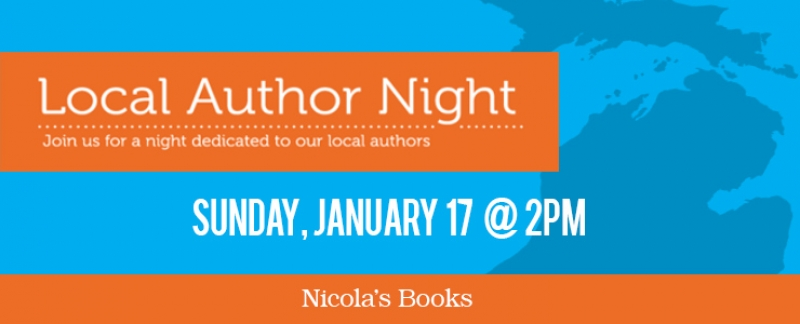 Jan. 17, 2016 – Local Author's Event at Nicola's Books